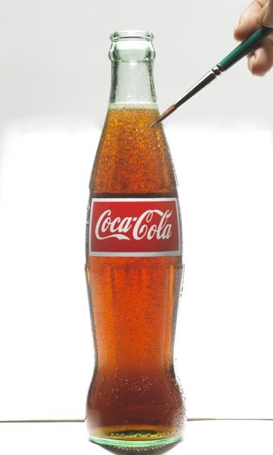 Alice Hart painting bubbly Coca-Cola®