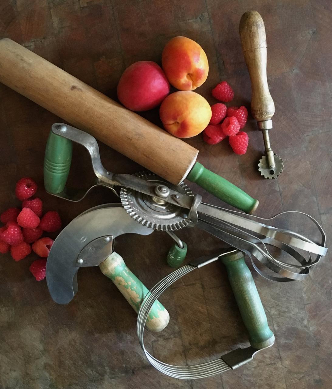 Vintage Pie Making Tools Still Life