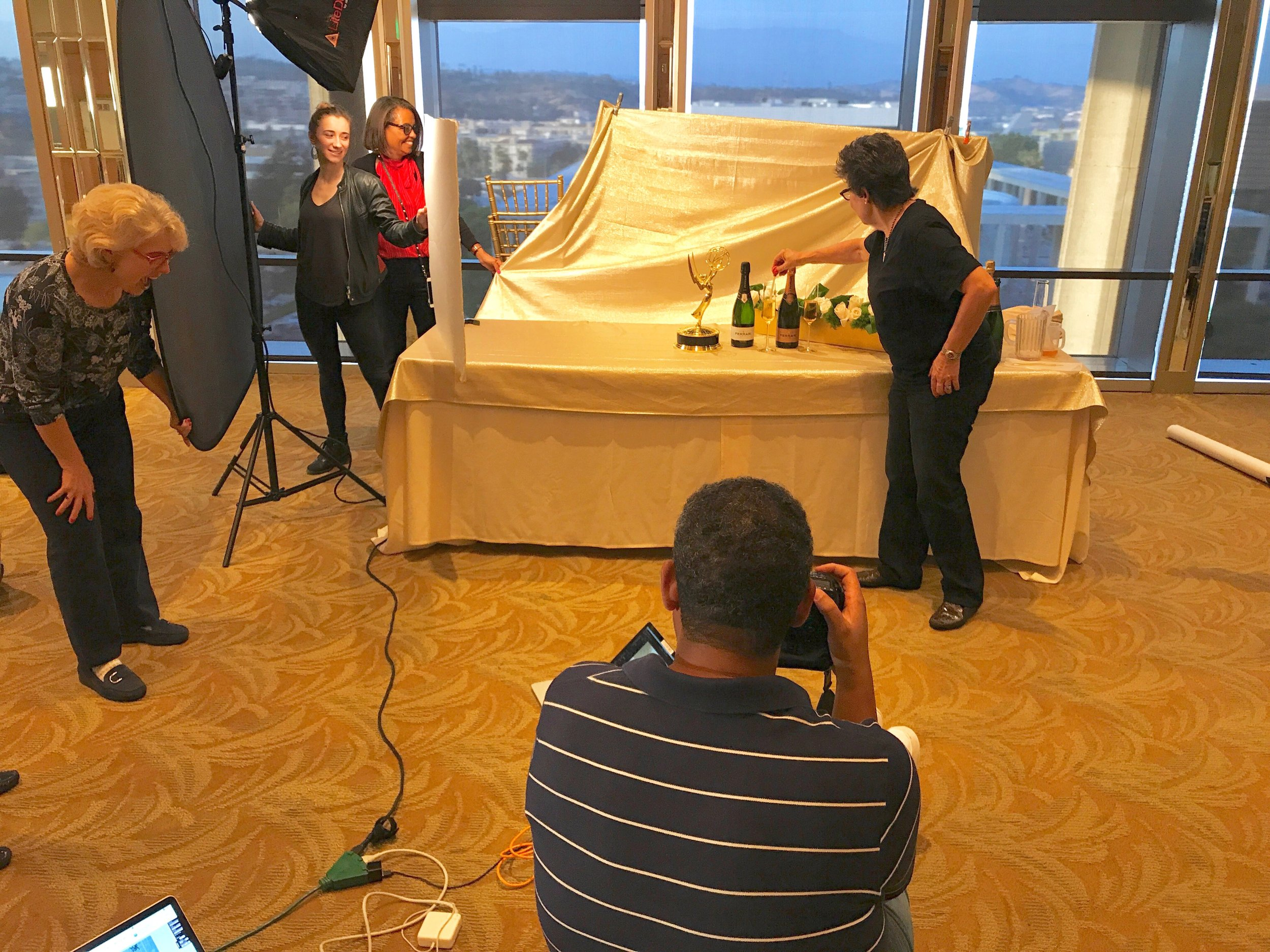 Behind the scenes 69th TV Primetime Emmy Shoot