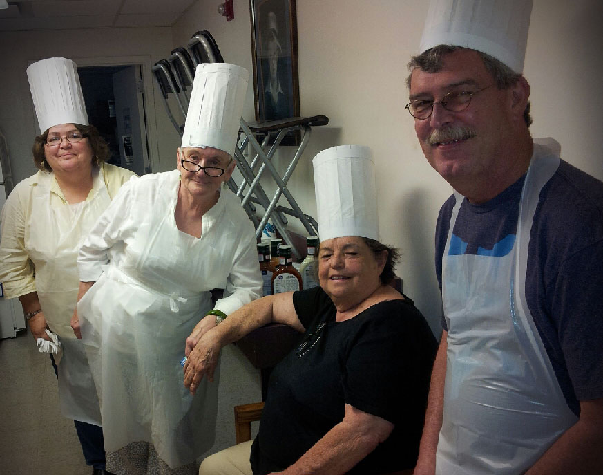 Chef Sheila, Chef Sally, Chef Sandy, & Chef Kevin prepared lunch for ADA & ACCESS DSPs on Thursday