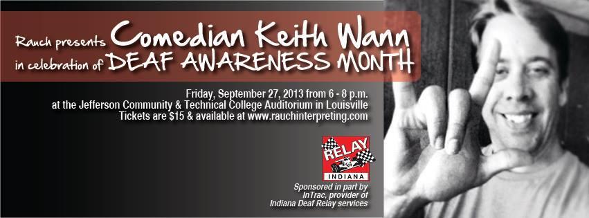 Rauch Interpreting Services presents Comedian Keith Wann