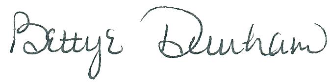 Bettye Dunham signature