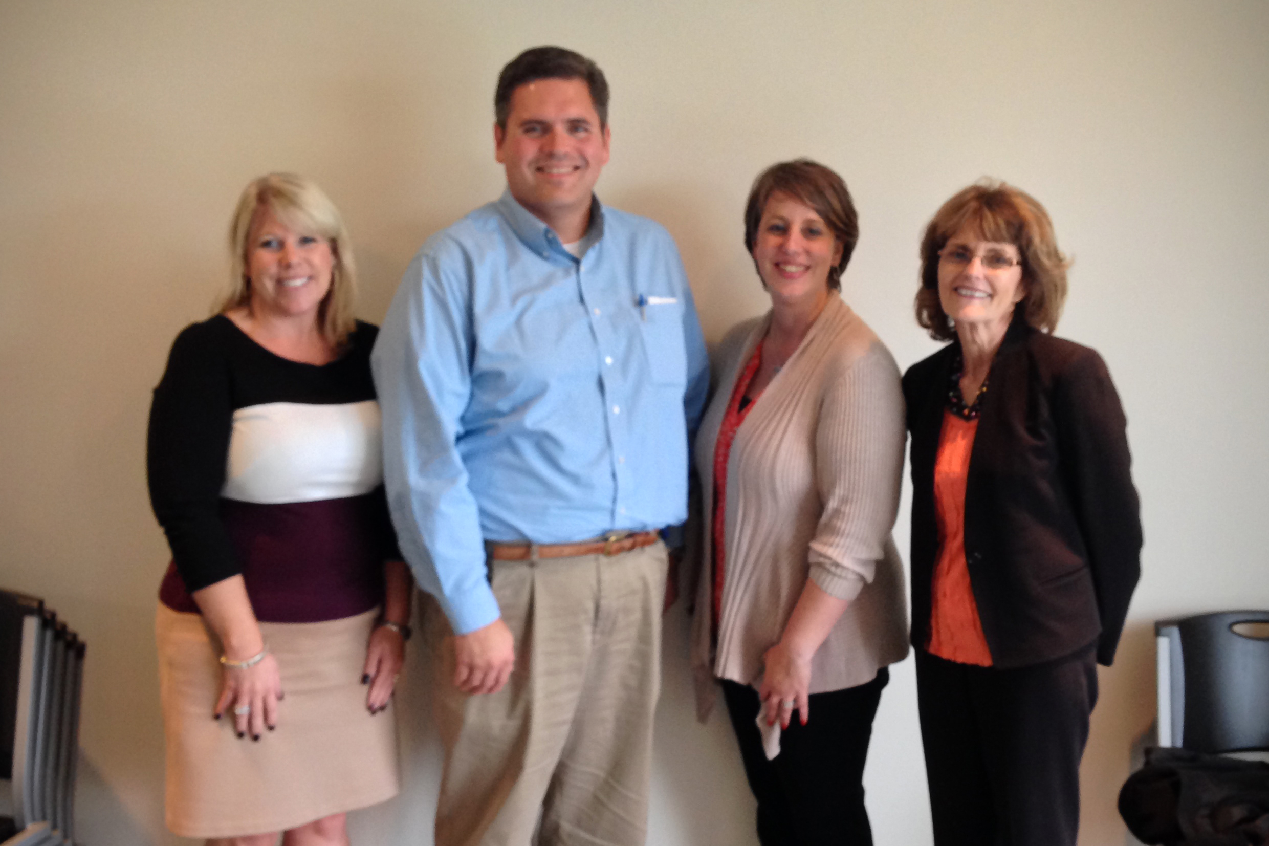 Kim Dodson with the Arc of Indiana, State Rep. Ed Clere, INARF CEO Kim Opsahl, & Rauch CEO Bettye Dunham