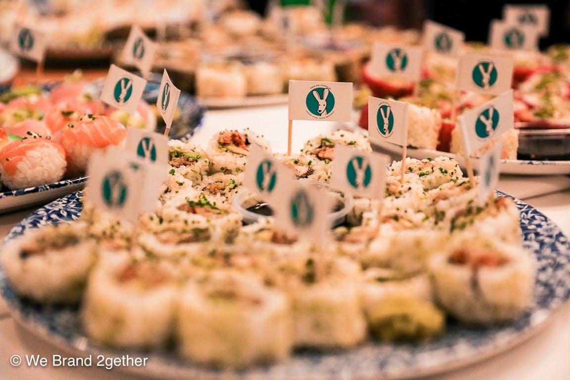Yummy sushi via  Deliveroo .