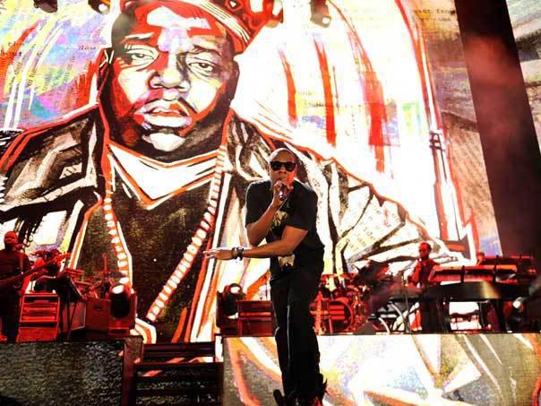 Jay Z live on stage