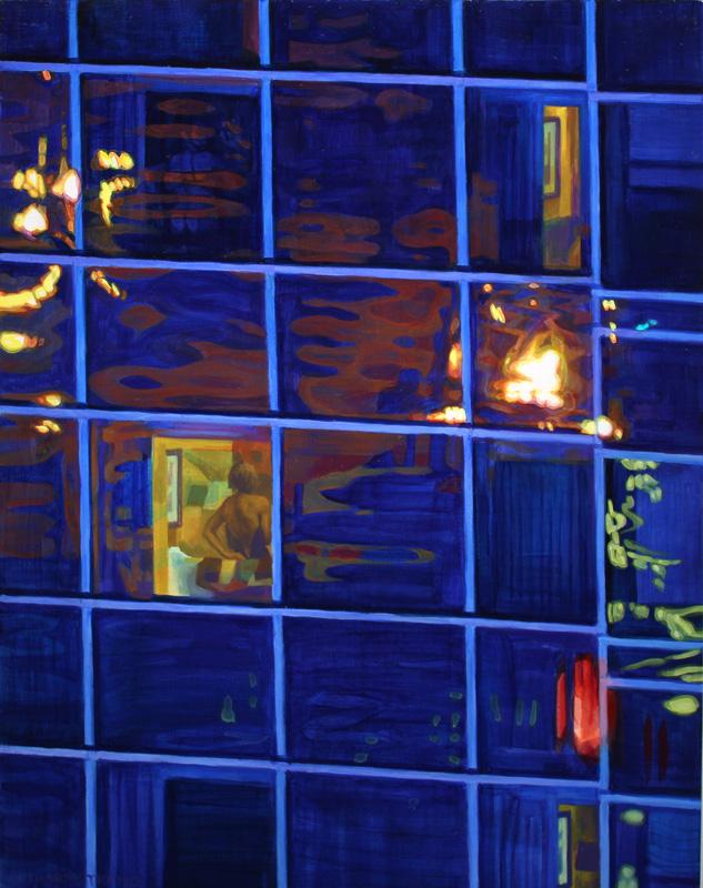 """""""Orange and Blue"""", Oil on wood, 11 x 14, 2016"""