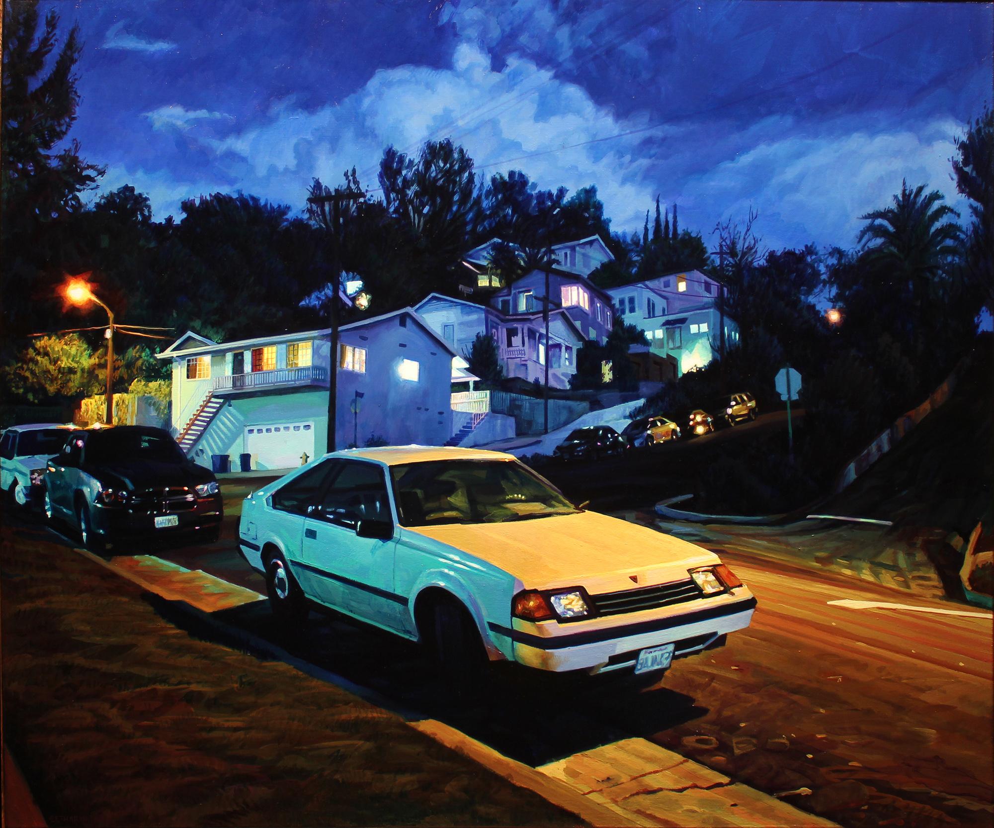 """""""Li'l Baja"""", oil on canvas, 32 x 36 inches, 2017"""