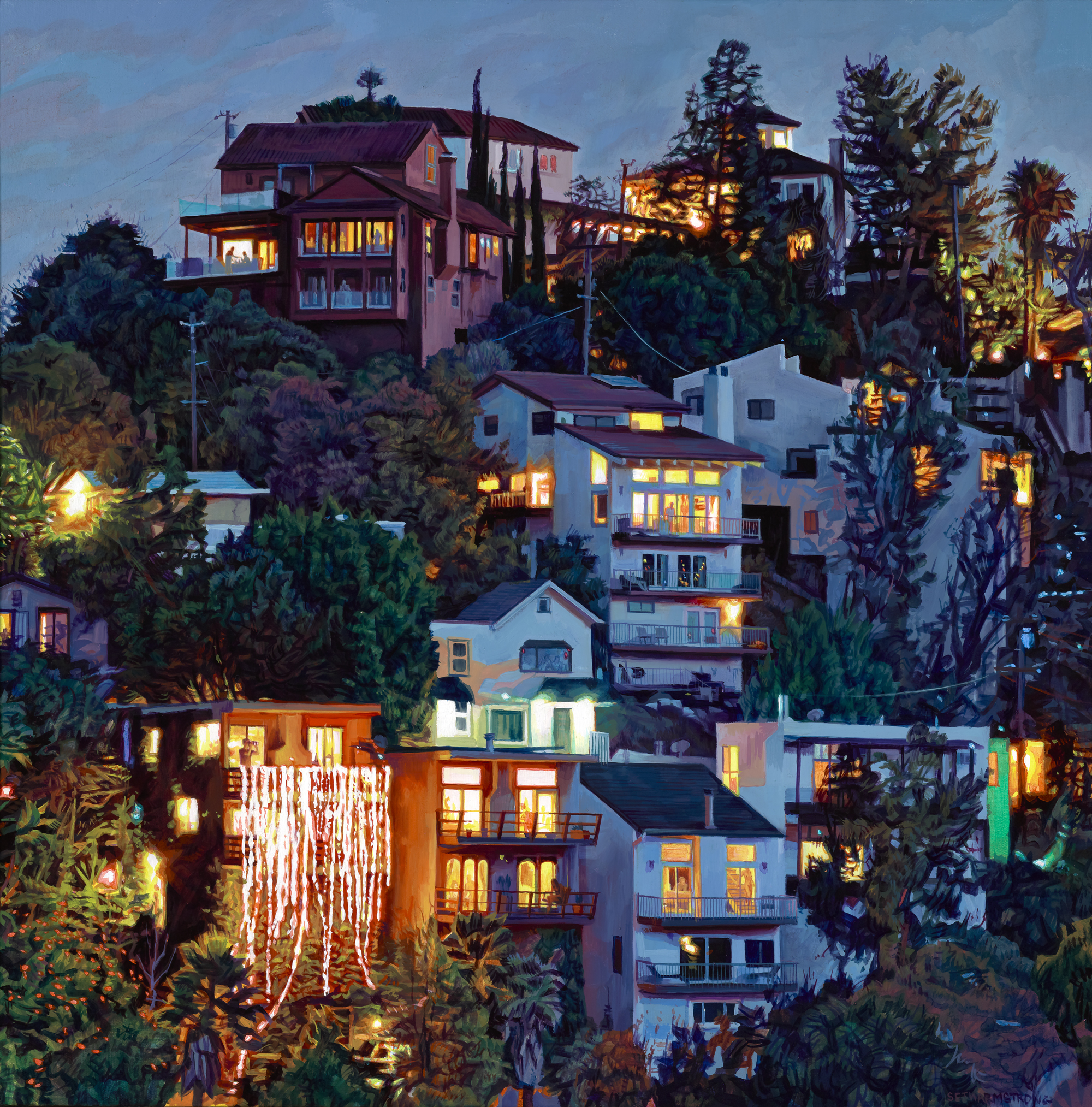 """Laurel Canyon"", Oil on canvas, 24 x 24 inches, 2018"
