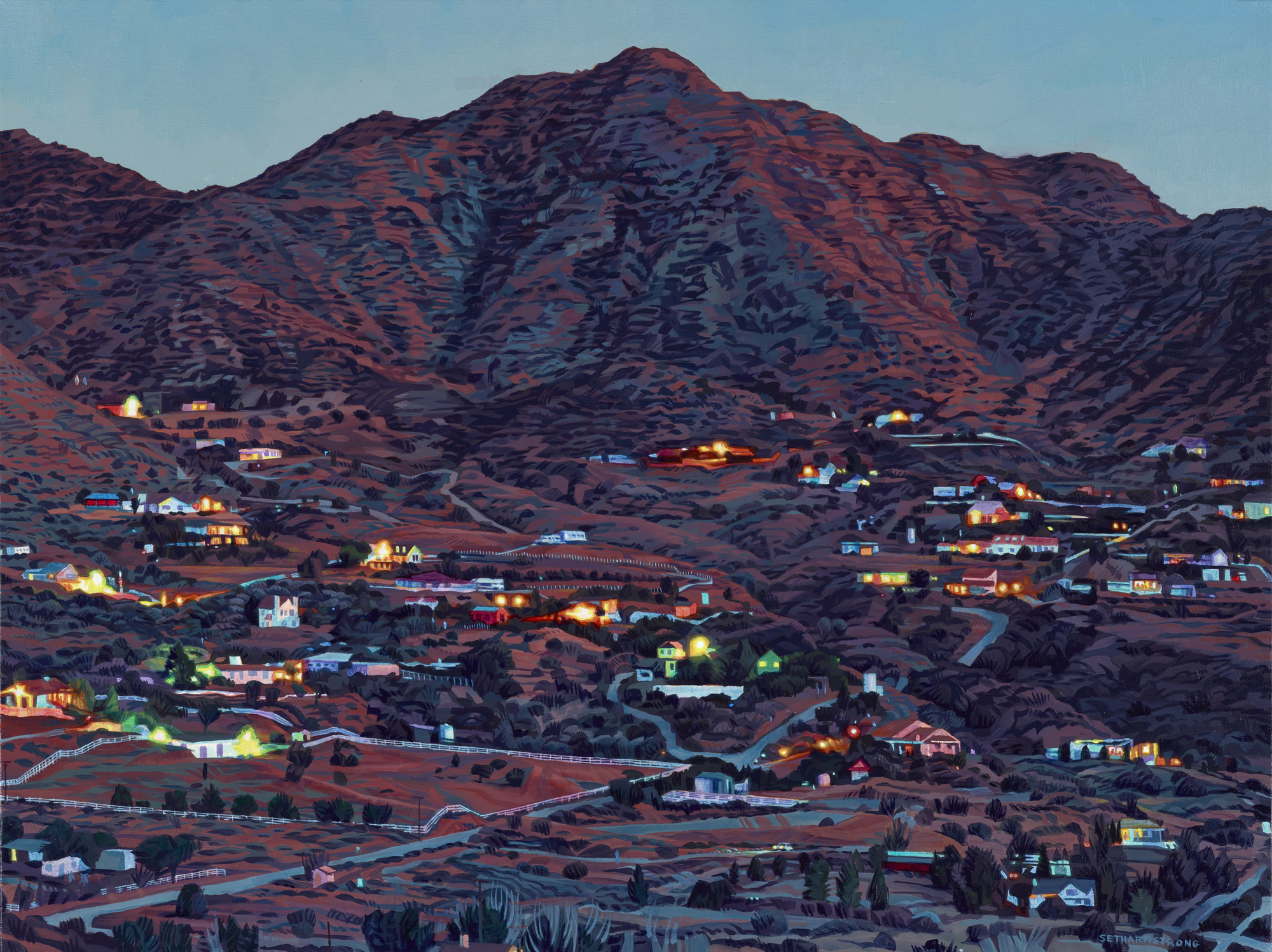 """Kentucky Springs Canyon"", oil on canvas, 30 x 40 inches, 2018"