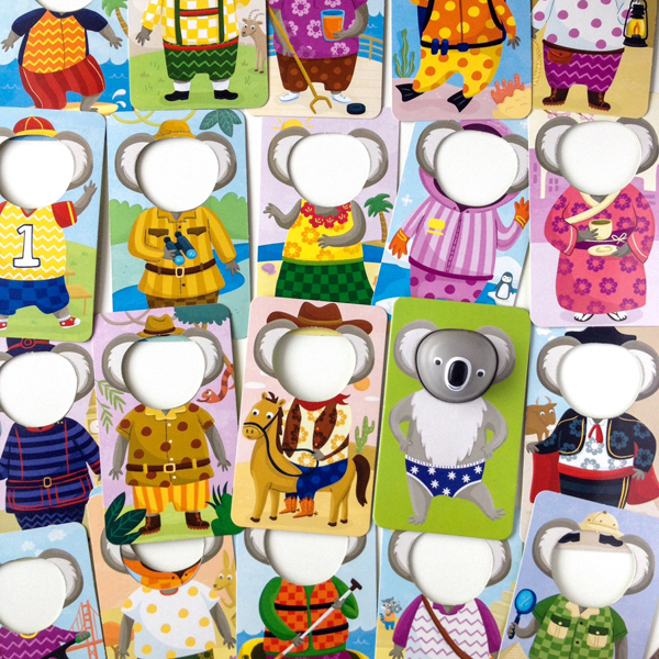 Koala player card in underwear! Game cards with different outfits from around the world.