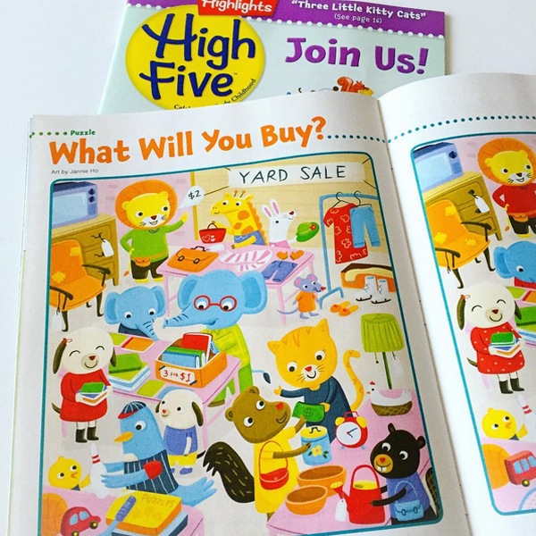May issue of High Five Magazine - Look and Look Again Feature