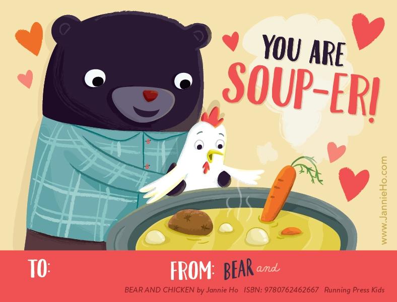 Bear and Chicken Valentines