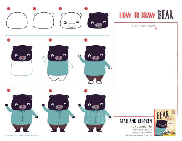 How to Draw Bear Worksheet