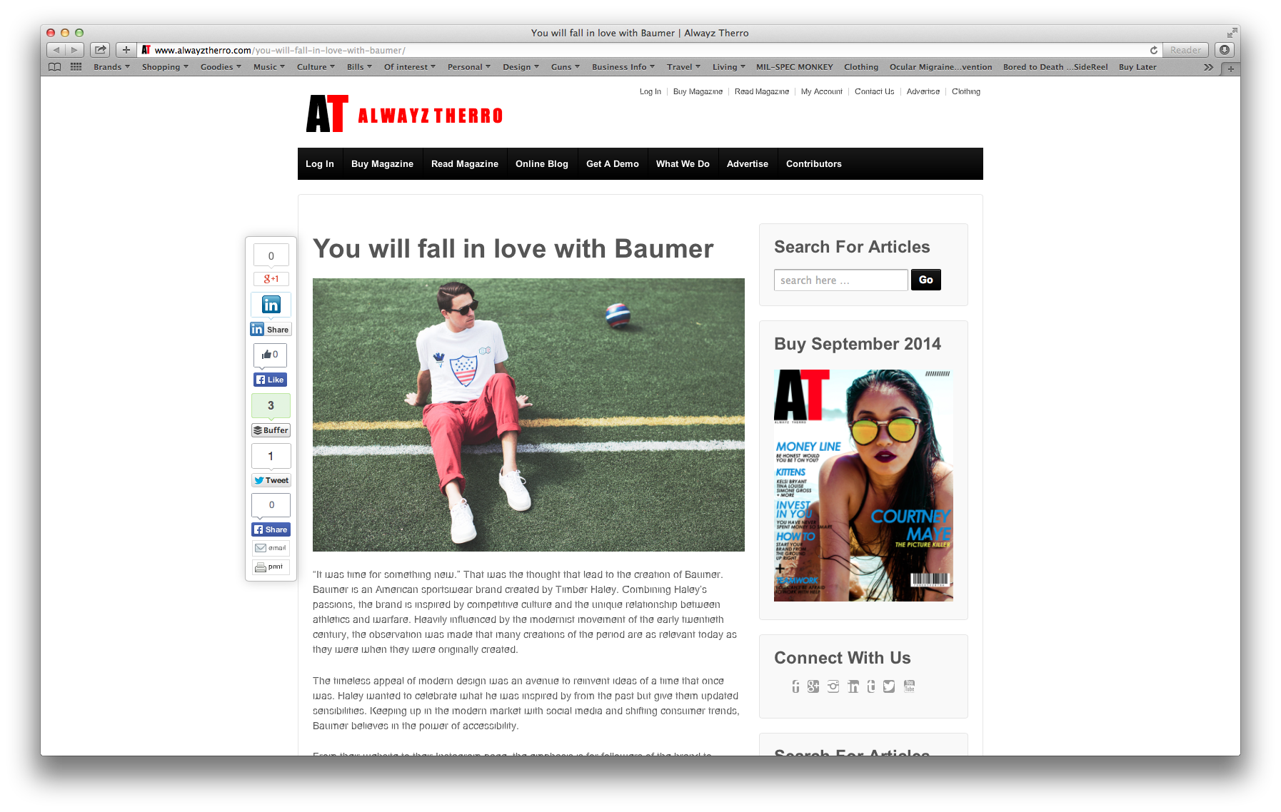 Thank you Always Therro for your kind words.  Read the article at:  http://www.alwayztherro.com/you-will-fall-in-love-with-baumer/
