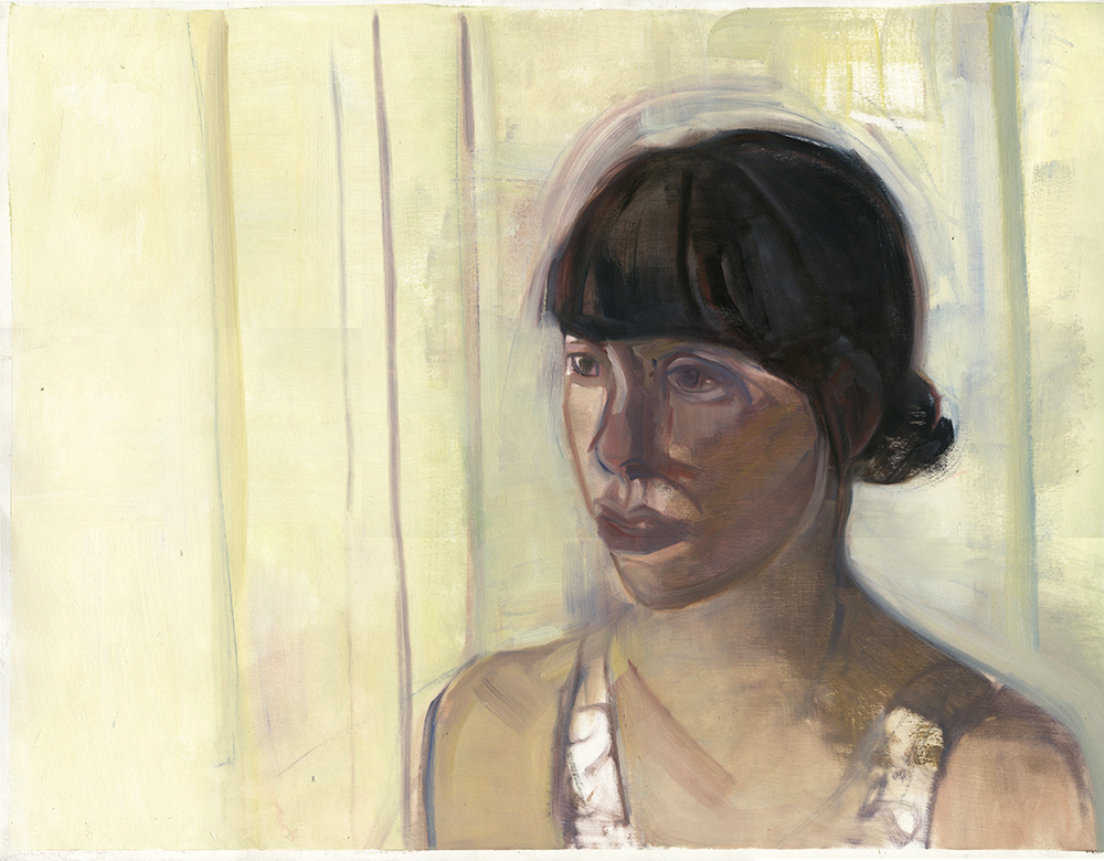 Amanda (Giverny residency),  19 1/2'' x 25 1/2'', Oil on Paper. Private Collection.