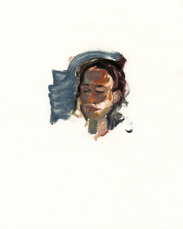 "Christine (Head),  10"" x 8"", Monotype."