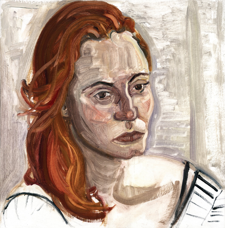 "Jessica, 16"" x 16"", Oil on panel."
