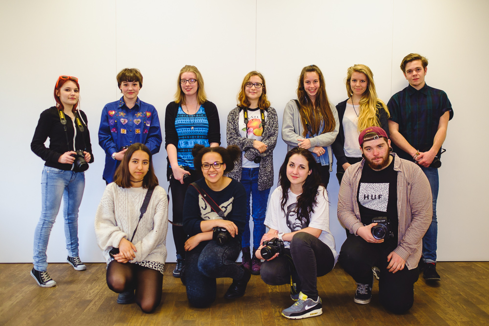 Street Portraiture Youth Workshop attendees at The Photographers' Gallery - © Andrew Newson