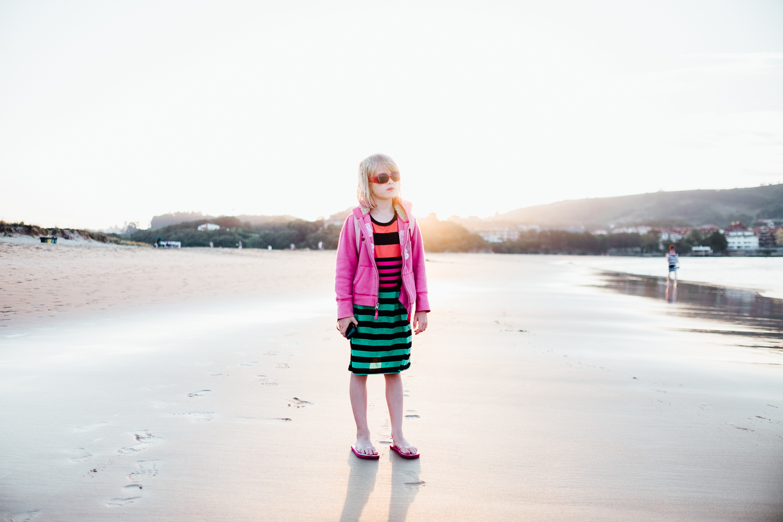 Myla on the beach © Andrew Newson