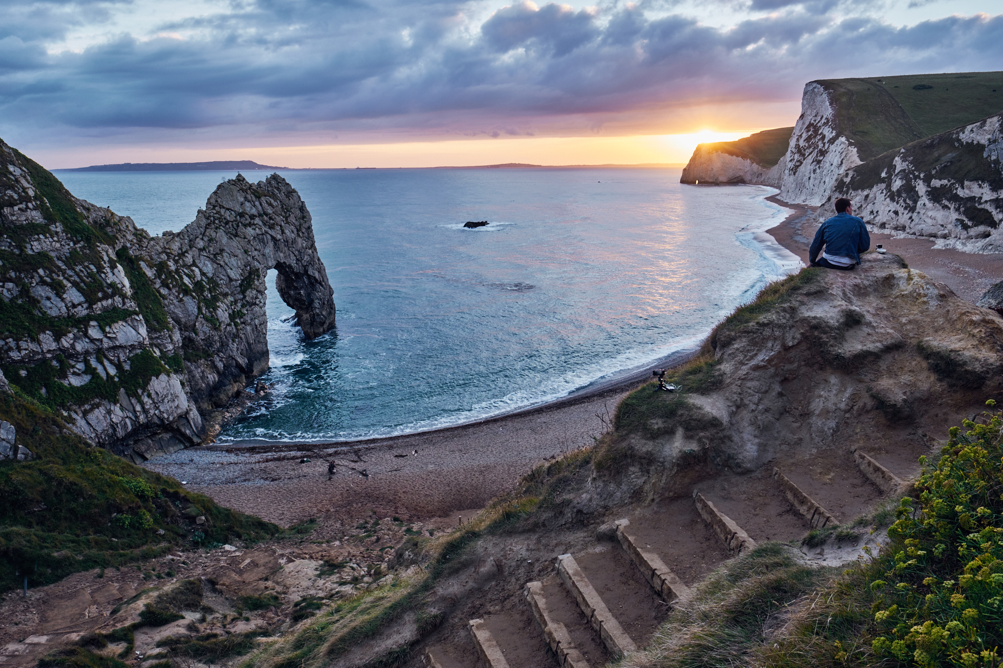 Photographer capturing the scene at Durdle Door - © Andrew Newson