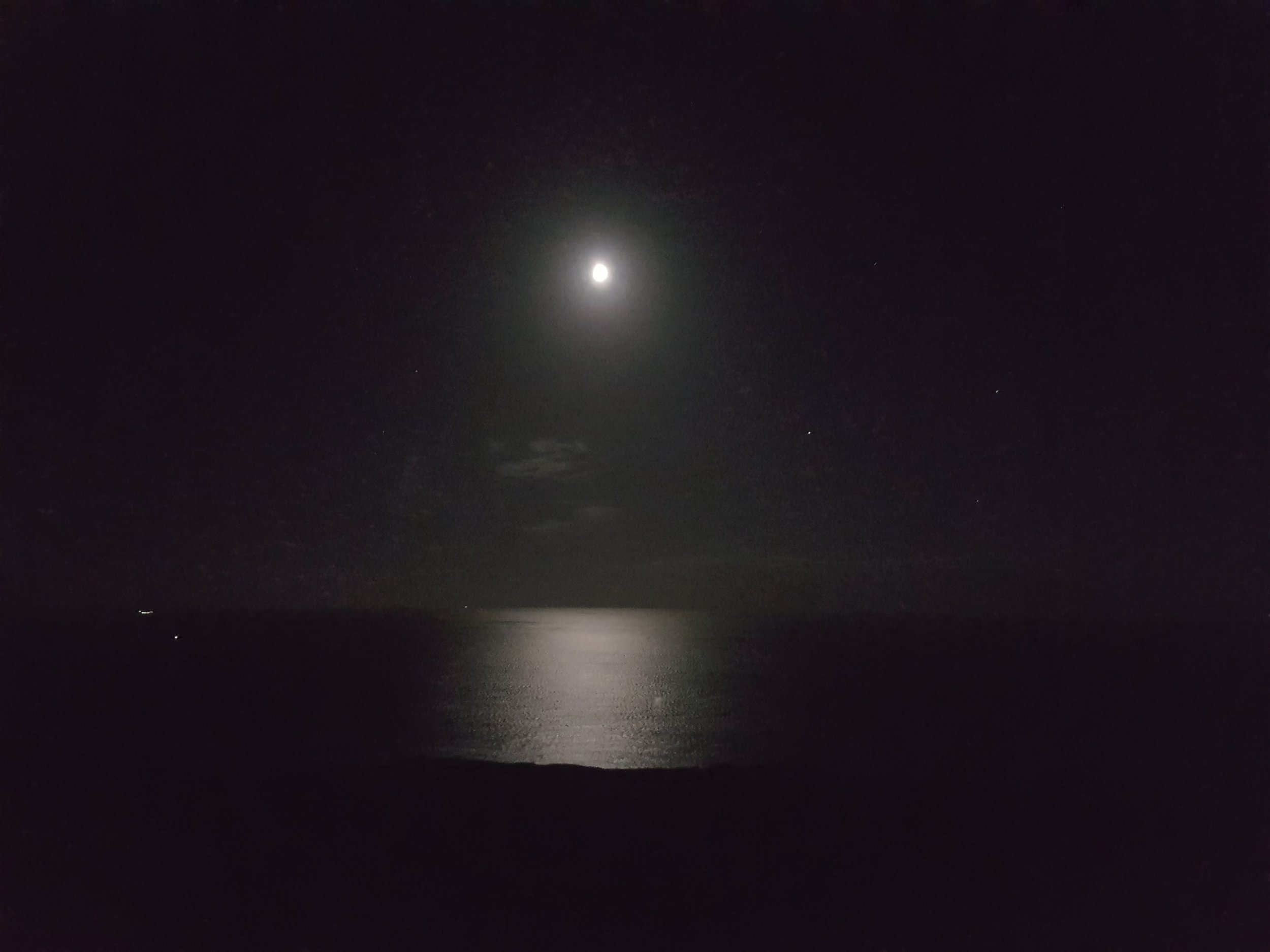 The moon shimmers over the ocean - © Andrew Newson