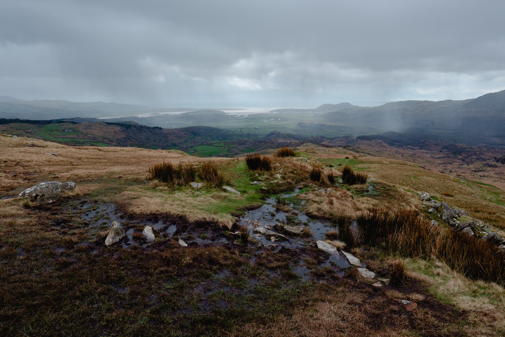 Hail storm approaching Cnicht, Snowdonia © Andrew Newson