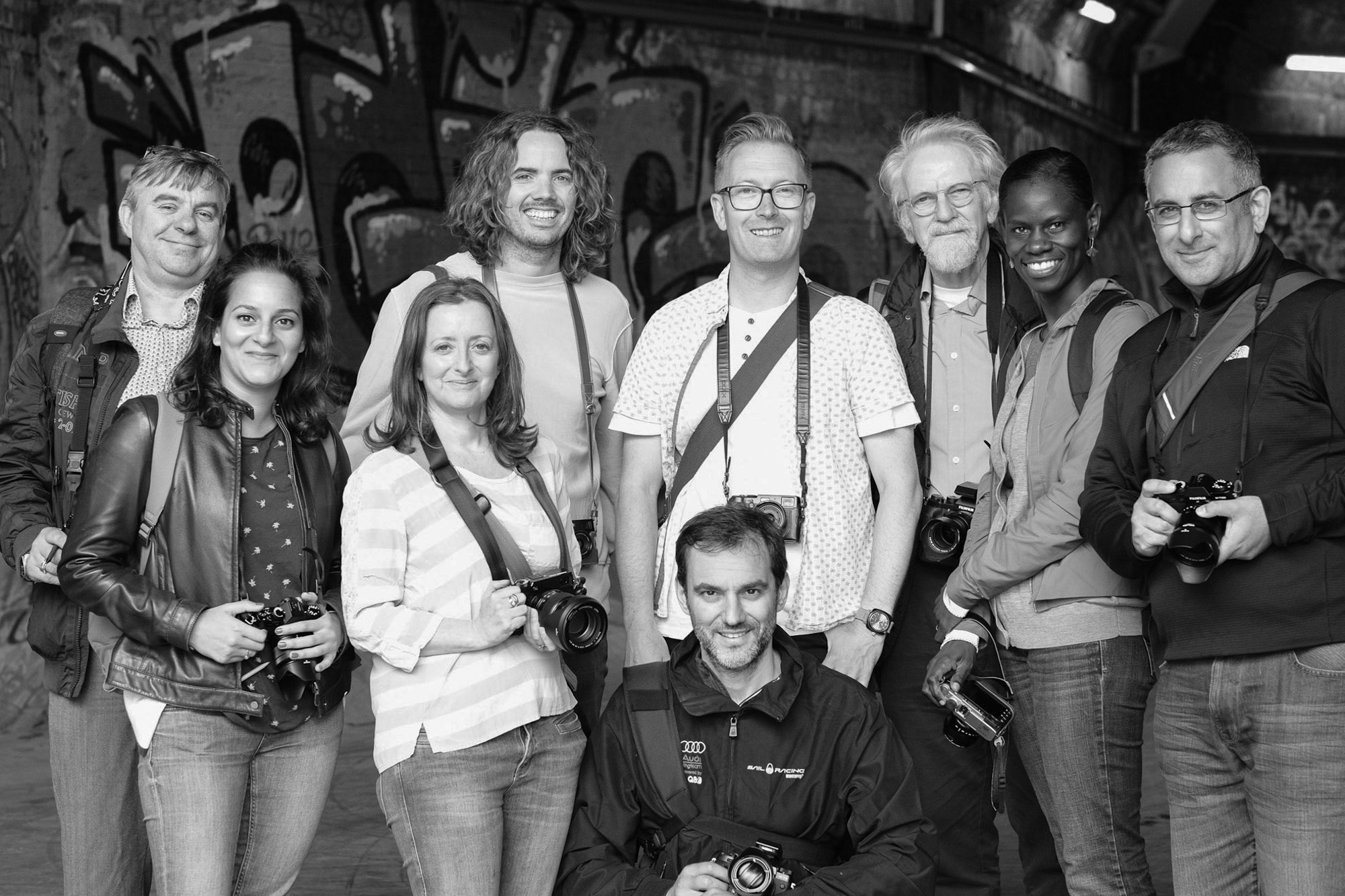 Andrew Newson with a group doing the Love Fujifilm X Camera workshop.