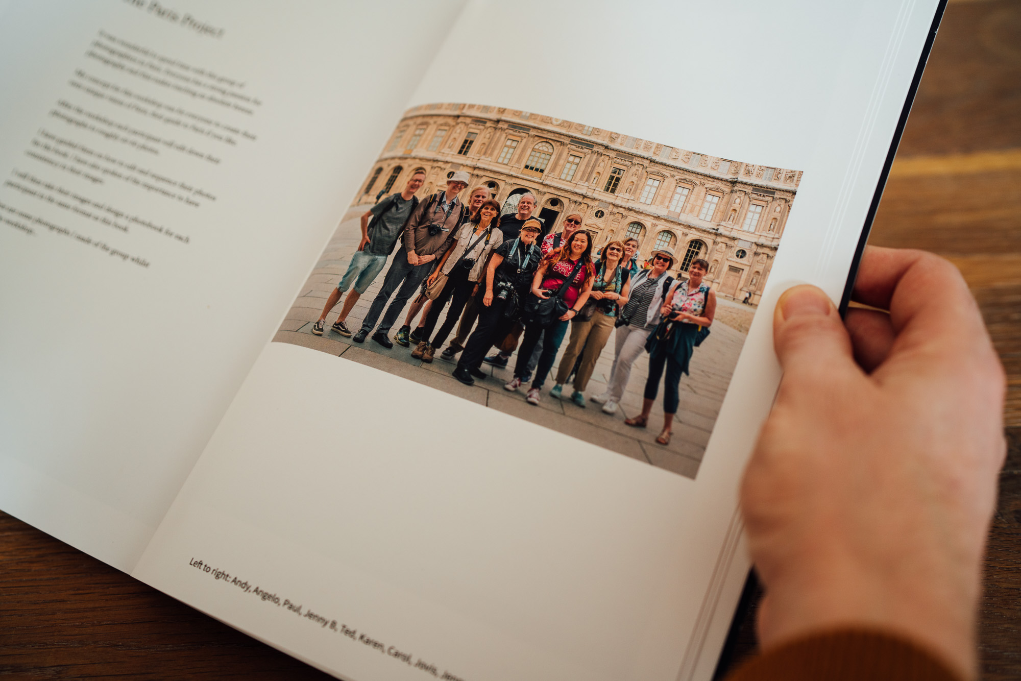 Paris Photo Book - Trip Attendees