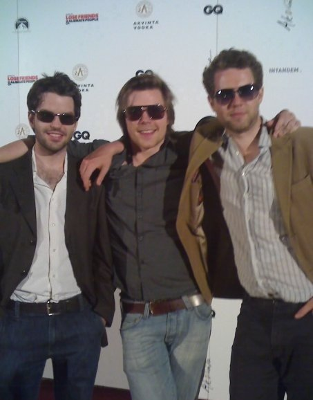 Harry Otto Brünjes, Marek Oravec and Wilf Varvill, Londongrad at Cannes 2009