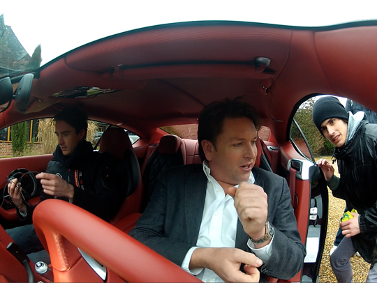 Filming James Martin in the new Bentley