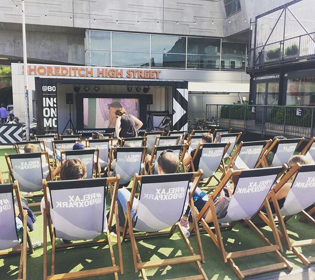 Deckchairs couldn't be more hipster. #deckchairs #shoreditchhighstreet #deckchairproductions #hipster #trendsetters #trending