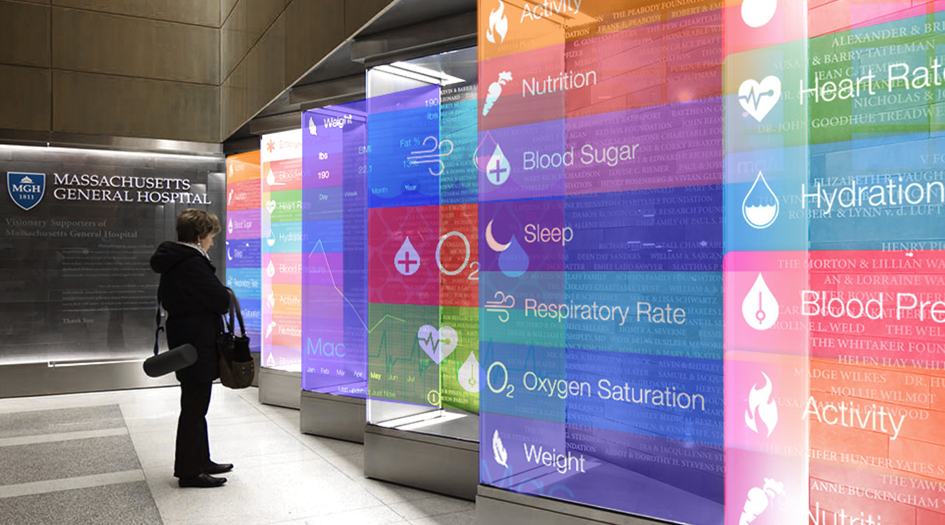concept for hospital interactive wall