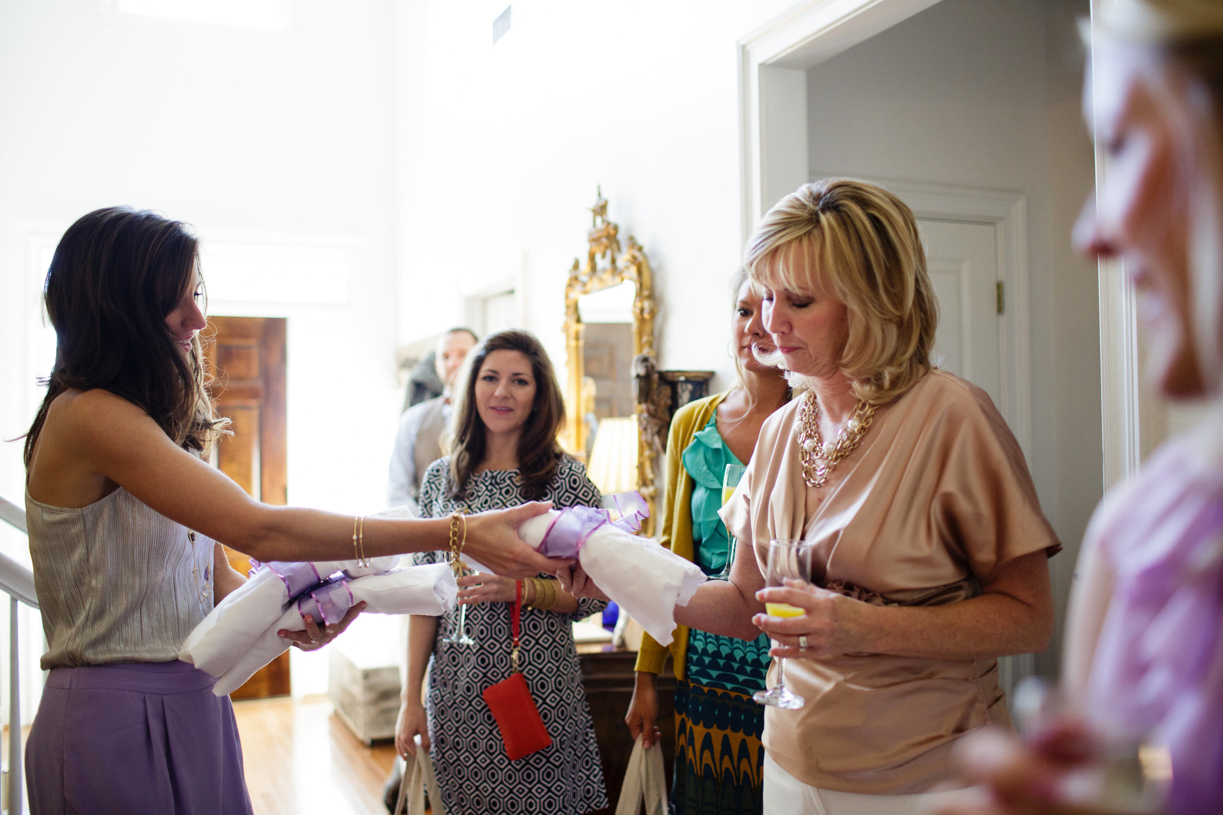 I love the look on my precious mom's face in this moment when I gave her the monogrammed shirt I had made for her.