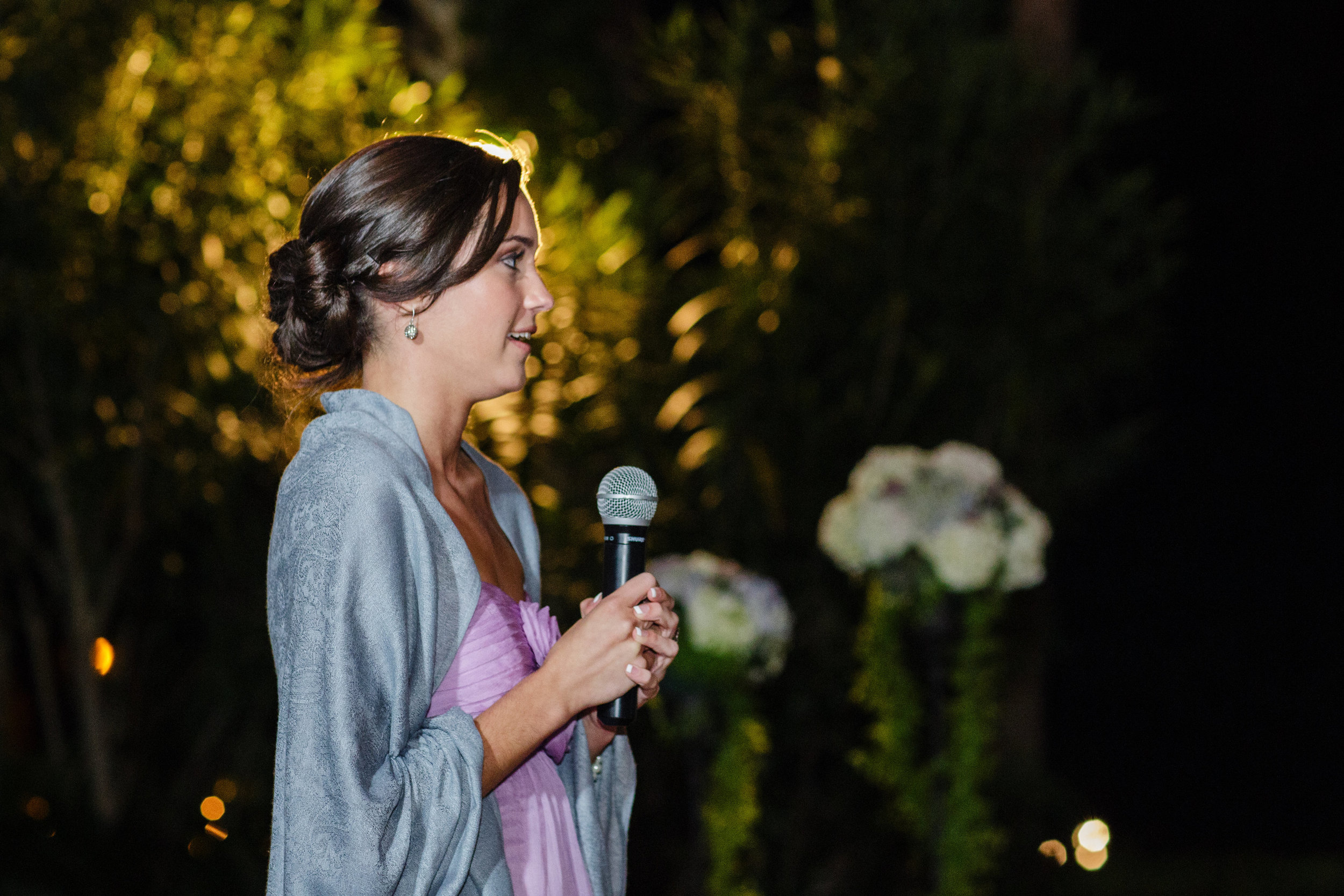 This is my dear sister, Lucy, looking precious in her pashmina as she gave her maid of honor speech at the reception.
