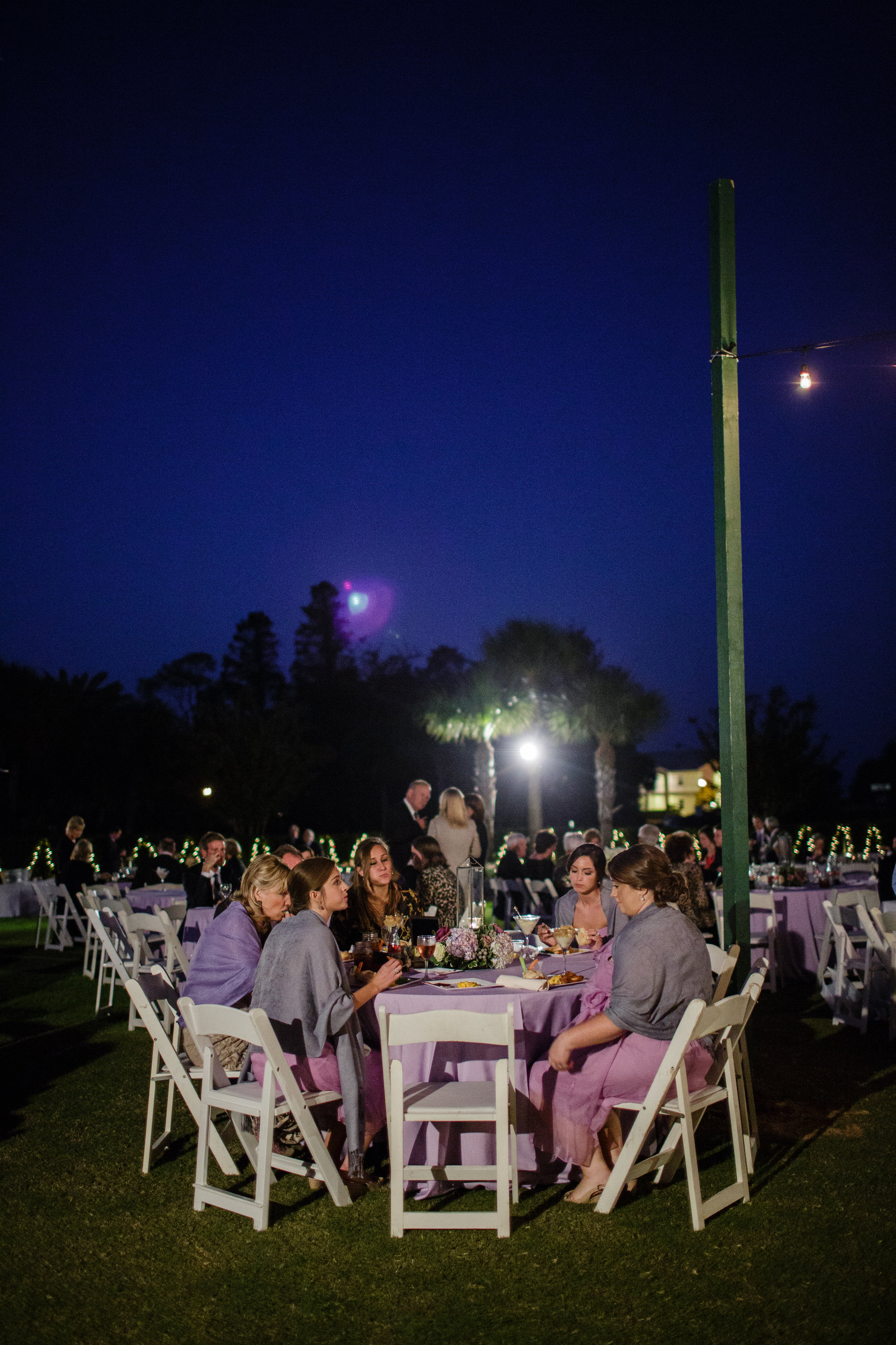 If you look closely, you can see my mom wrapped up in her very own pashmina in lovely wedding lavender!