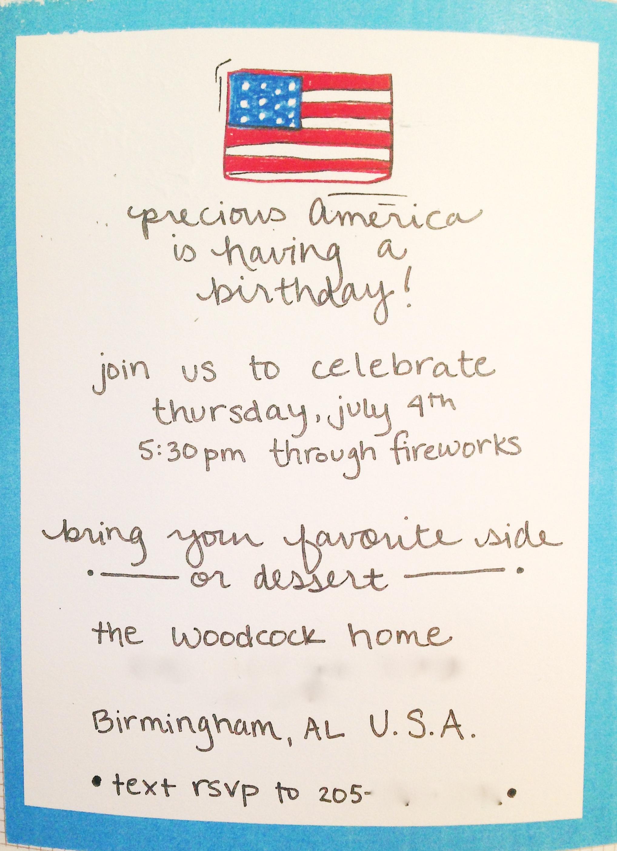 Fourth of July invitation_the lovingkind