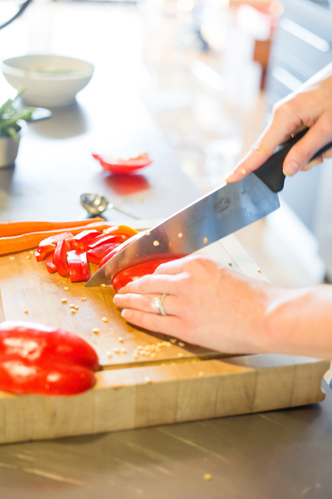 the lovingkind luv cooks chef's knife