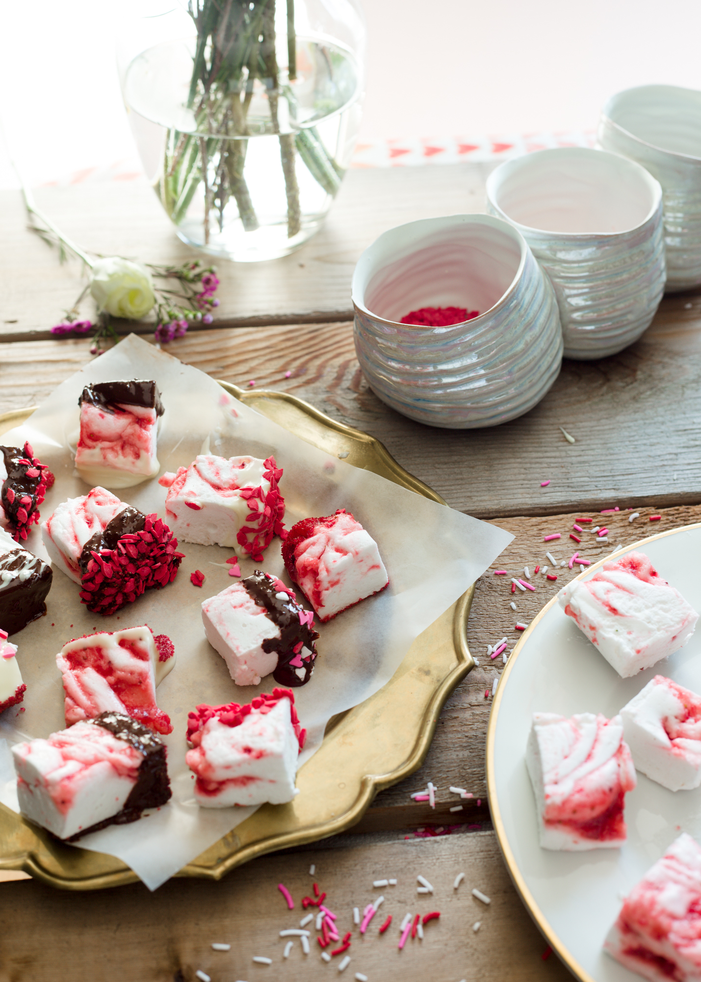The LovingKind_Luv Cooks Strawberry Swirl Marshmallows