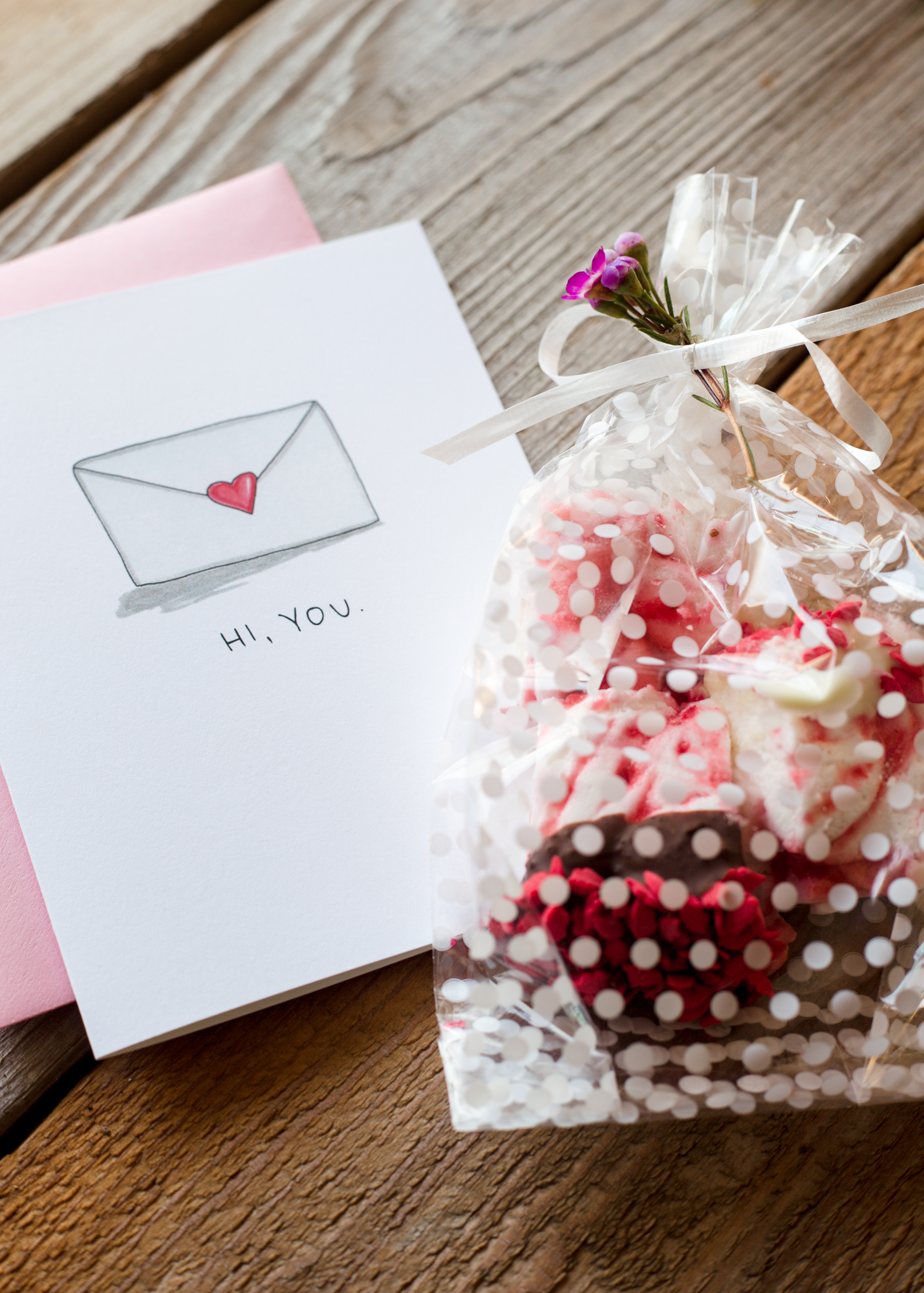 We decided to bag up a few of our marshmallows to share with friends! Hi, You card  from the  TLK Shop .