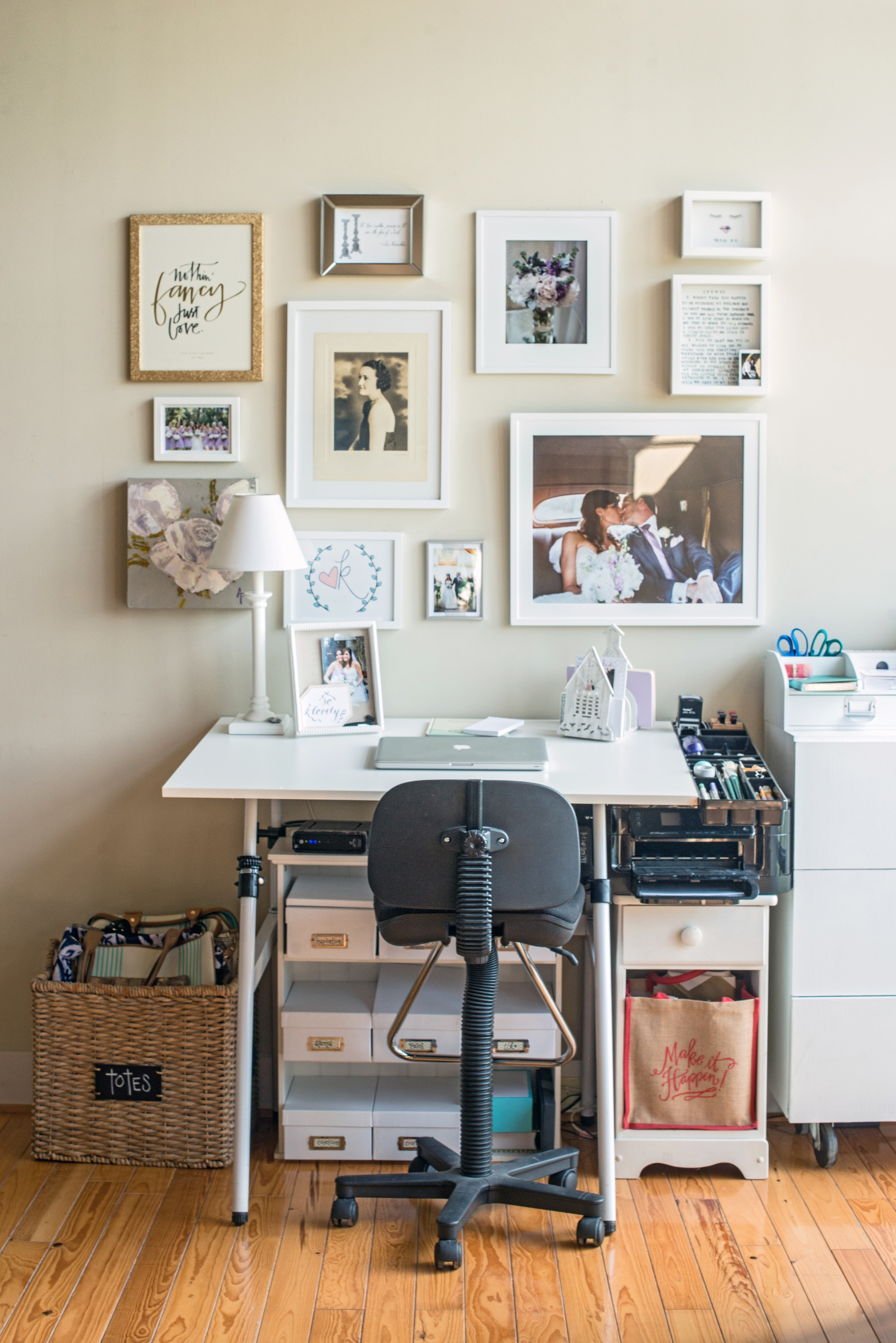 Creating this gallery wall was one of my goals last year, and it is filled with many special items that make my heart so happy, including that gorgeous portrait of my Great, Great Aunt Mattye who I am named after.