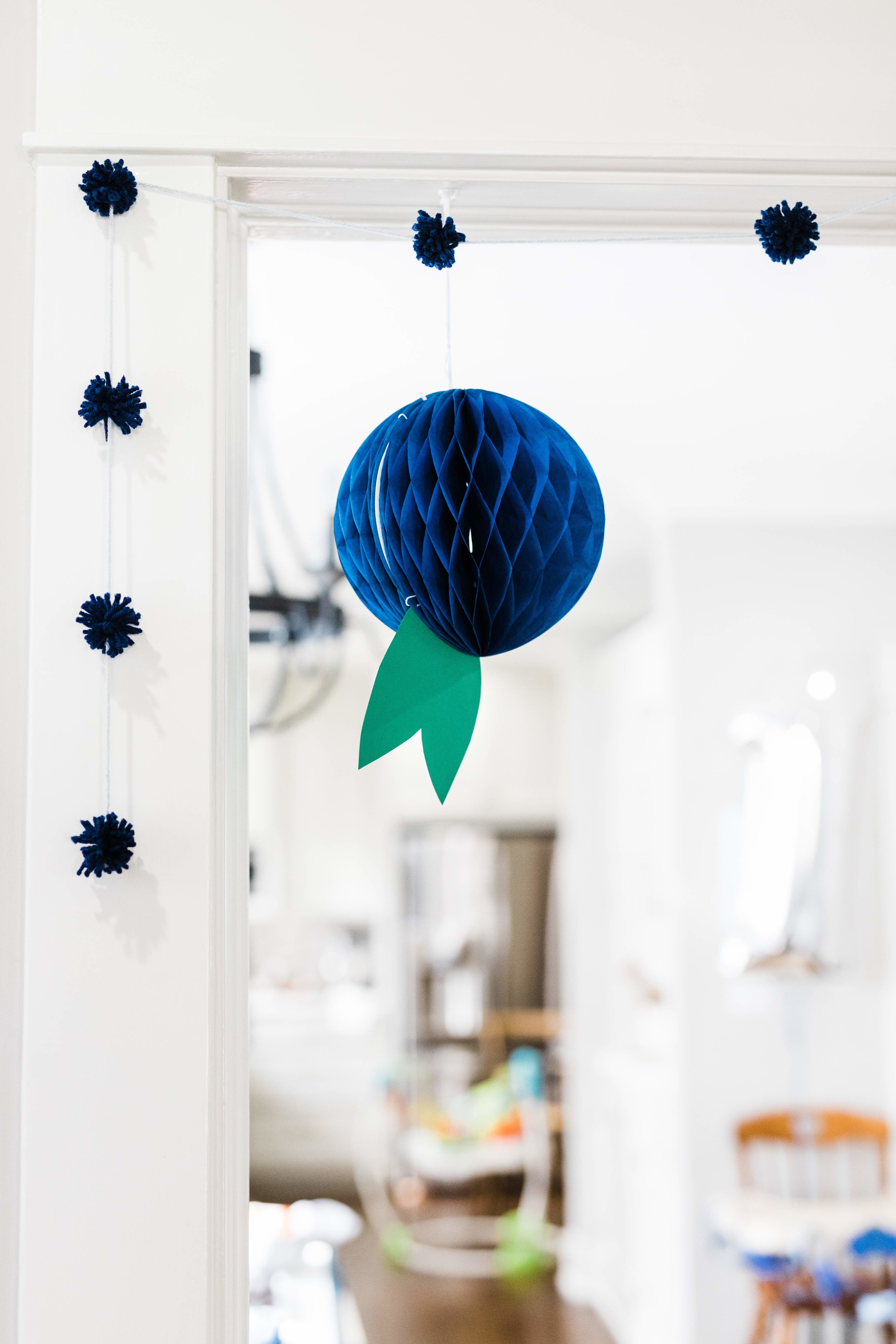 Blueberry themed first birthday party DIY