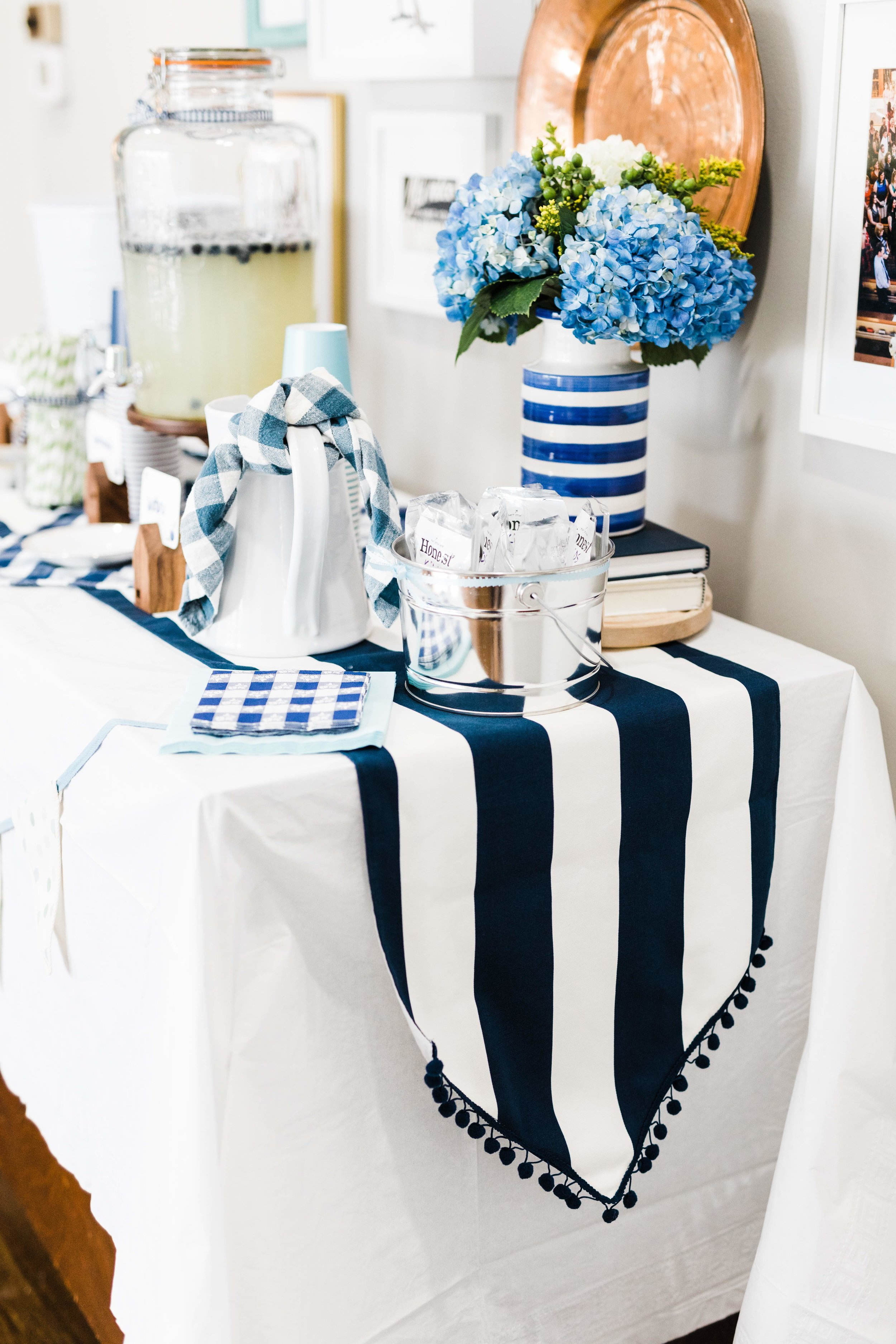 Blueberry themed first birthday party