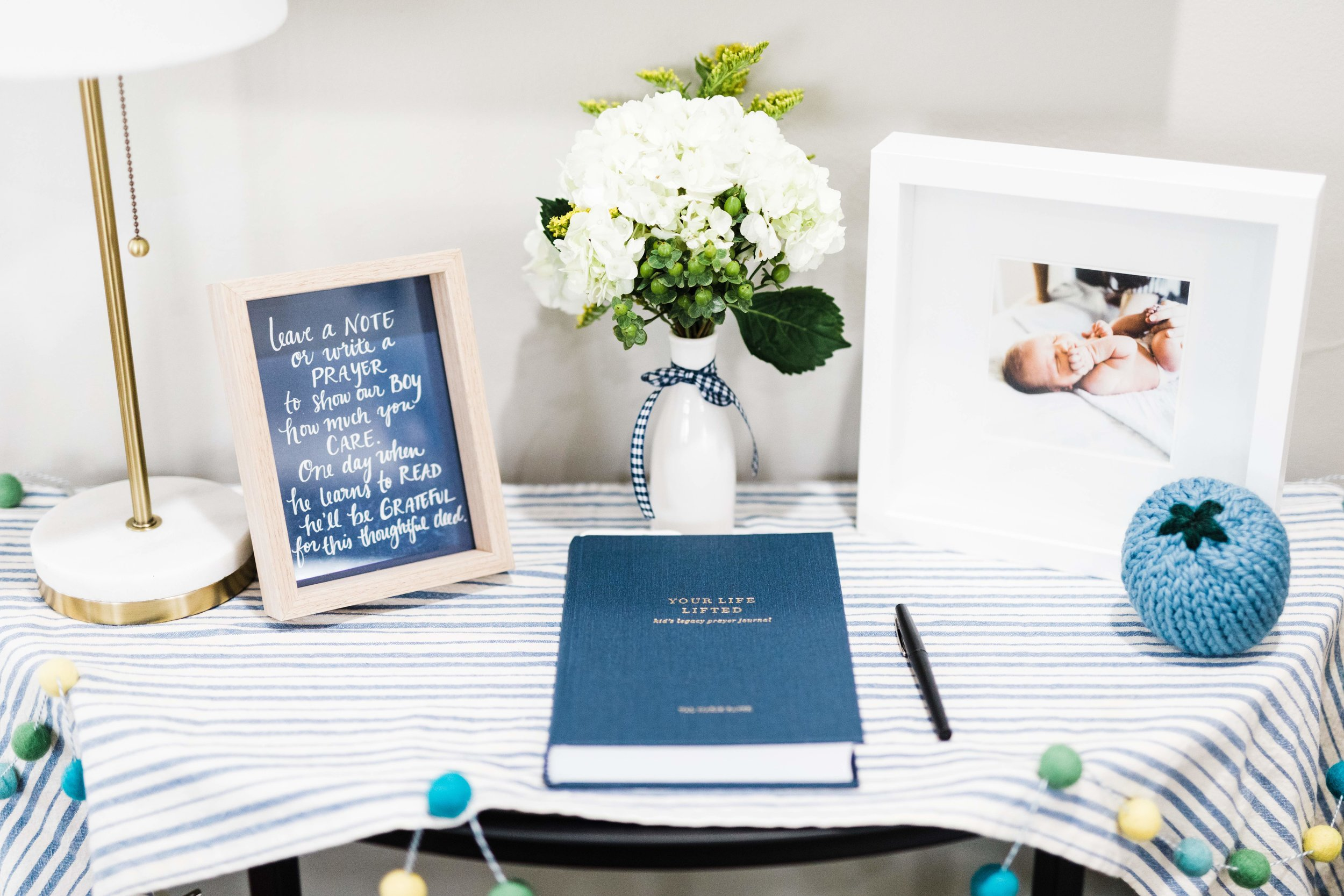 first birthday party guest book