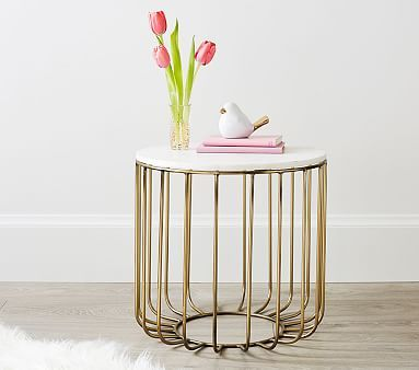 Baby Girl Nursery side table gold.jpg