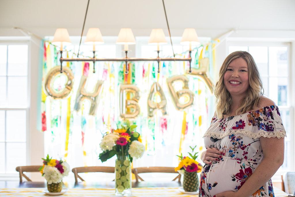 summer themed baby shower