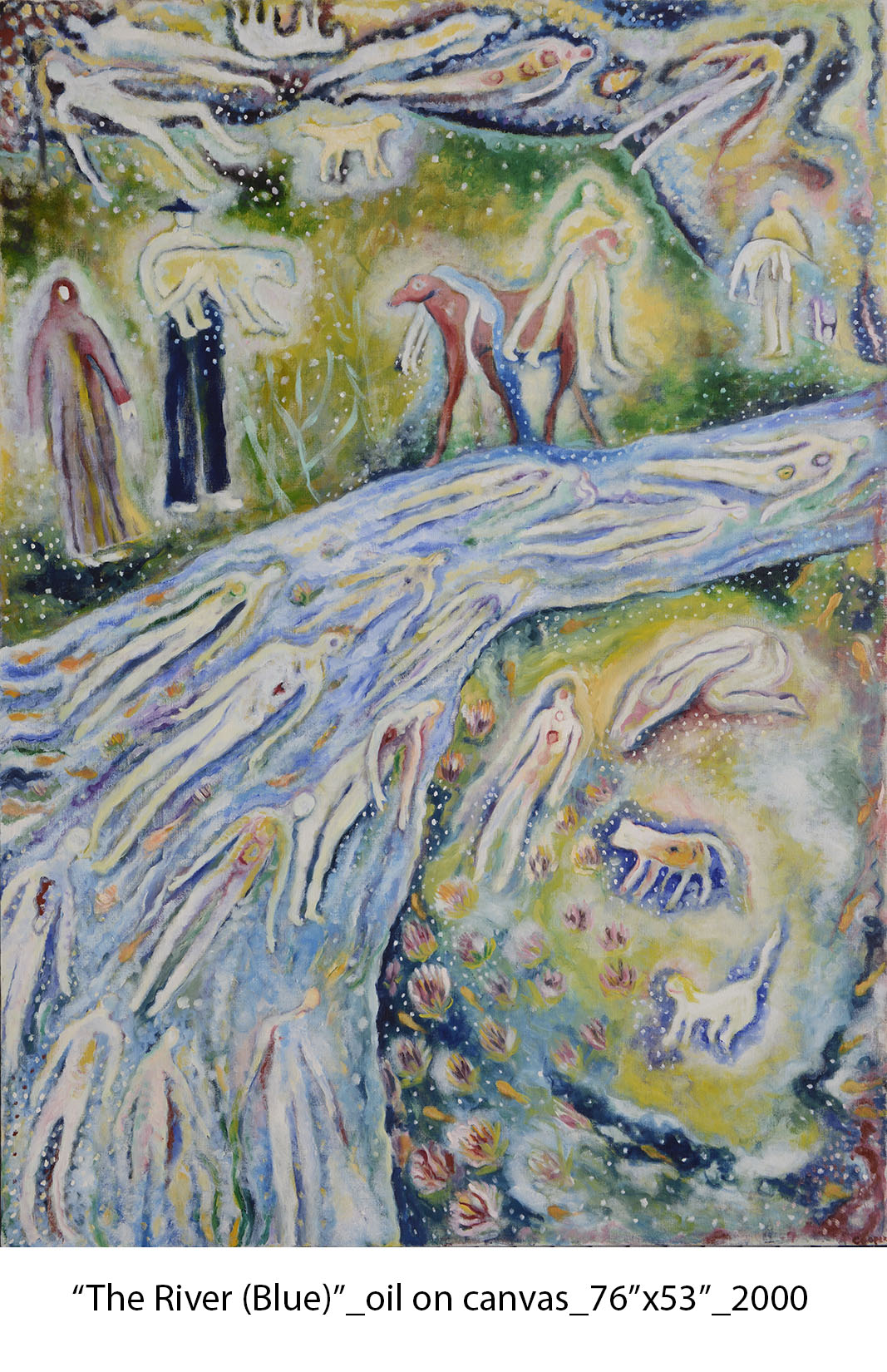 The River (Blue), 2000, oil on canvas,76%22x53%22   .jpg