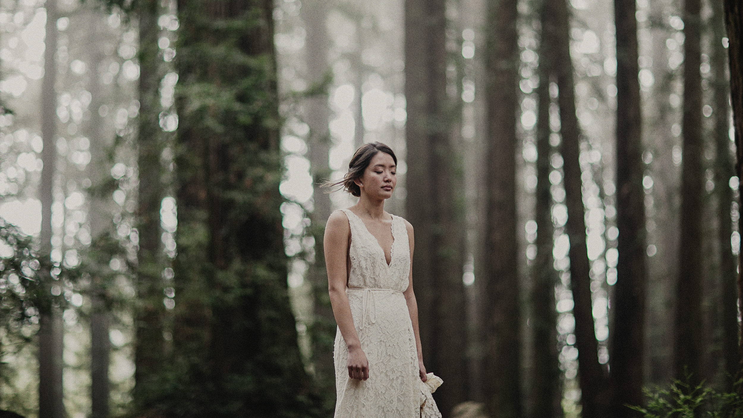 a bride at Roberts regional recreation area