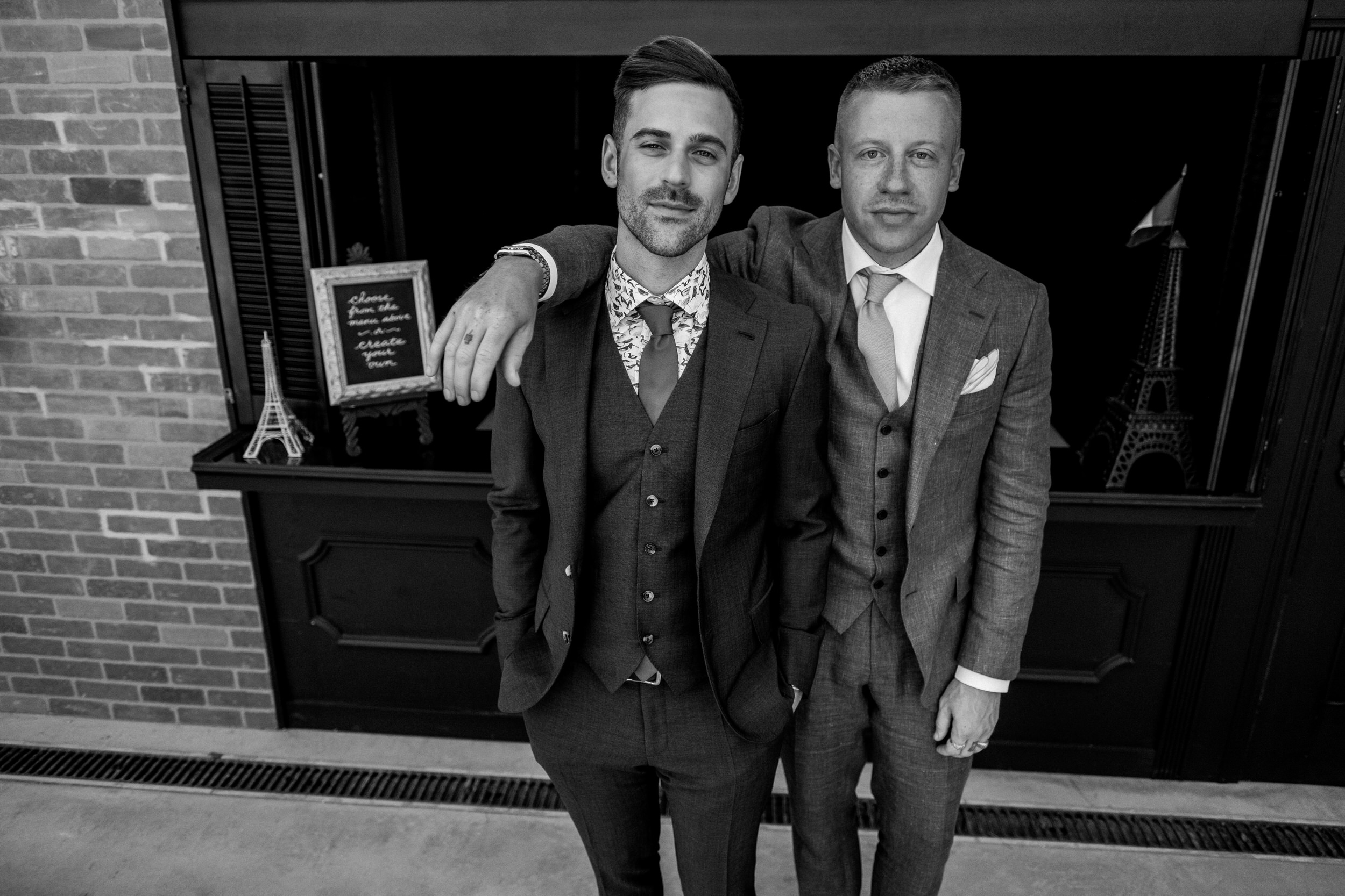 Macklemore was the best man at Ryan lewis' wedding