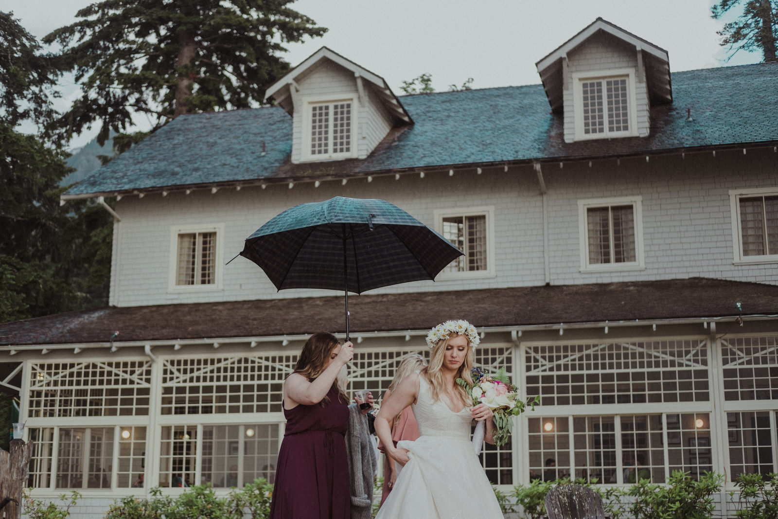 wedding at the lake crescent lodge