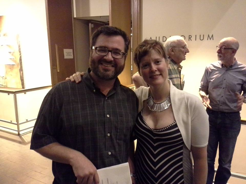 With composer B.P. Herrington at the 2013 Wellesley Composers Conference